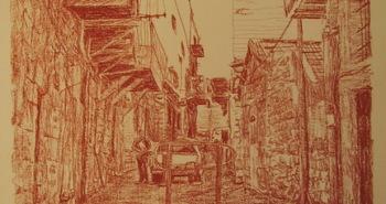 Painting Number 1 – רחוב בבית ישראל, ירושלים. – Beit Yisrael street, Jerusalem.