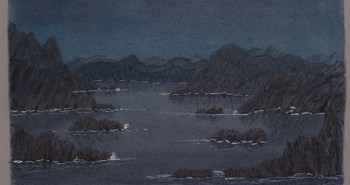 Painting Number 3 – לגונה בלילה. – Laguna at night.