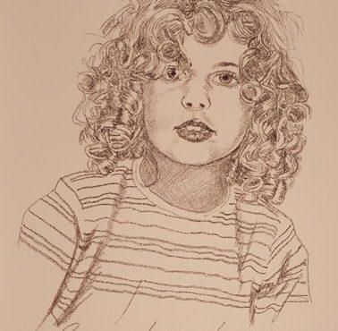 Sheli, My Eldest Grand Portrait.   8 Dec 2017  .שלי בכורת נכדיי, פורטריט