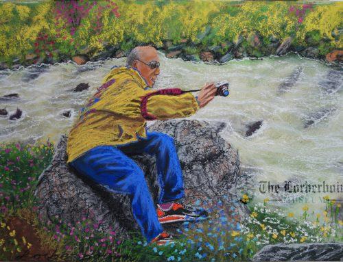 Lorberboim shoots over troubled water. 23 Aug .אני מצלם מעל סלע נטוי על מים סוערים