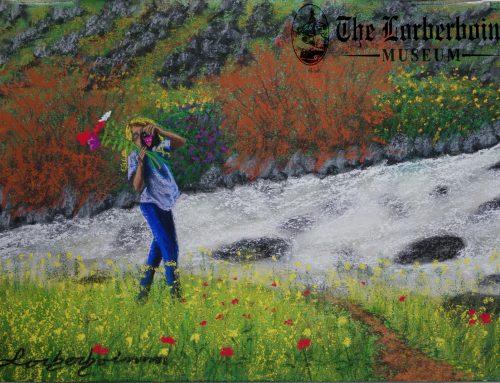 Yeshiva  student over troubled water. 30 Aug .תלמיד ישיבה משוחח על מים סוערים