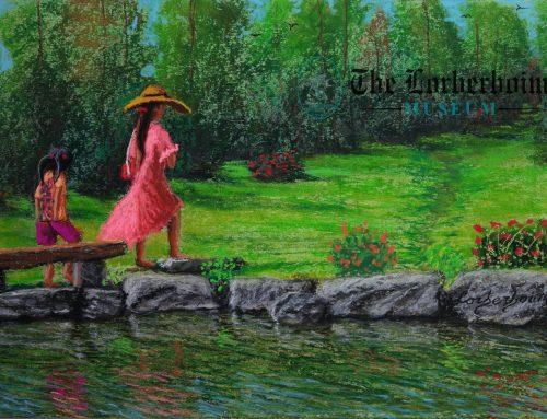 Stylish Lady, Chiang Mai, Thailand.  פשניסטה על גדת נחל, ציאנג מאי, תאילנד