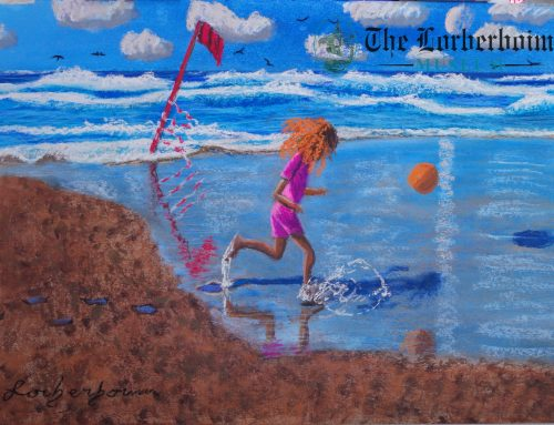 Lily gallops at Tel Aviv beach, Israel. .לילי רודפת כדור בחוף תל אביב, ישראל
