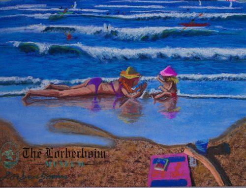 Mom and toddlers at Tel Aviv beach, Israel. .אם ופעוטתה בחוף תל אביב, ישראל
